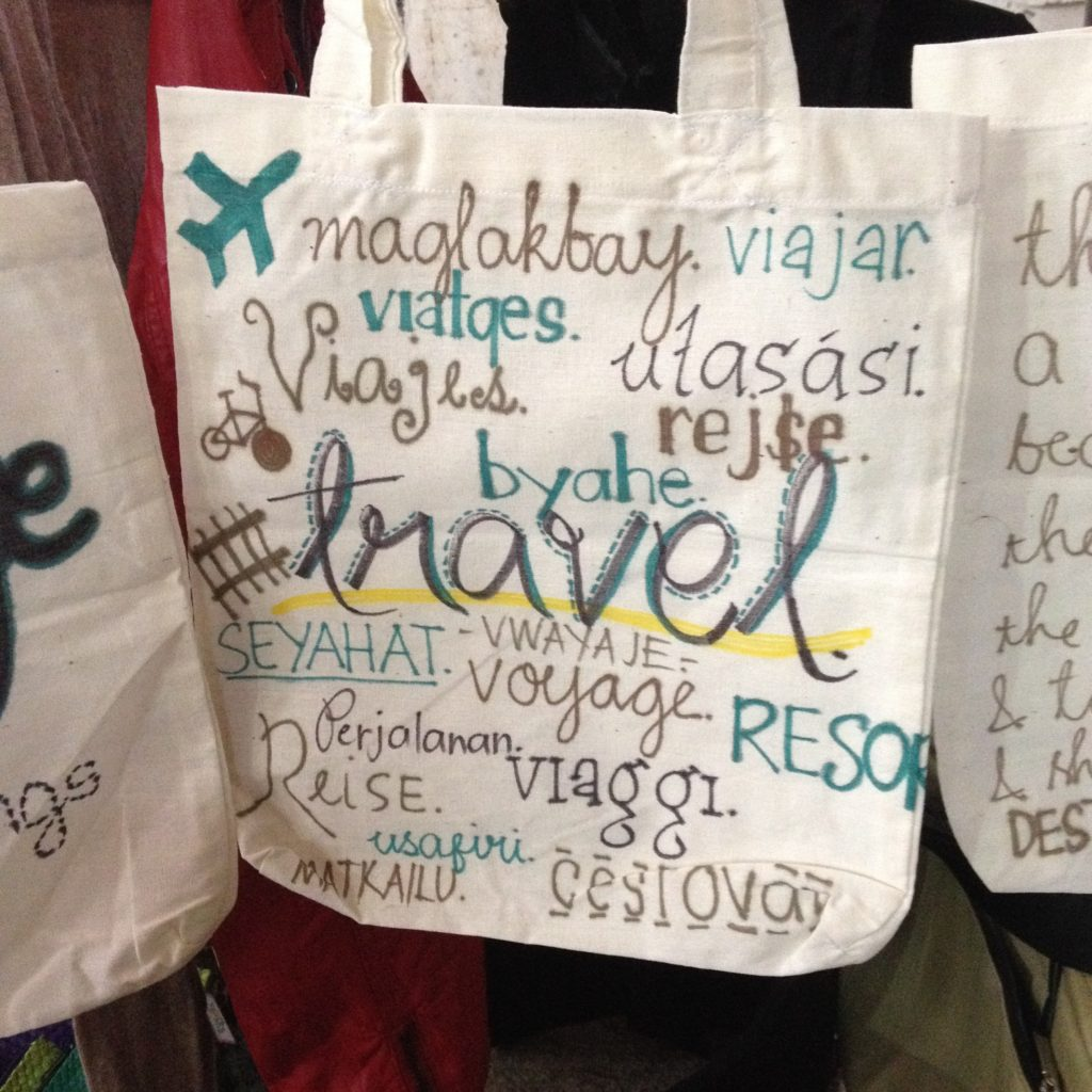 Travel Finds Sharpie Travel Statement Totes