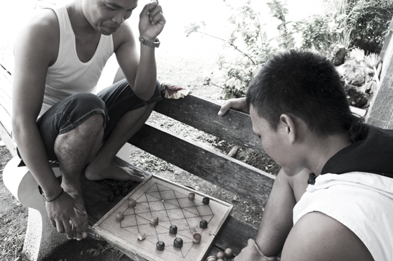 Locals and their board game