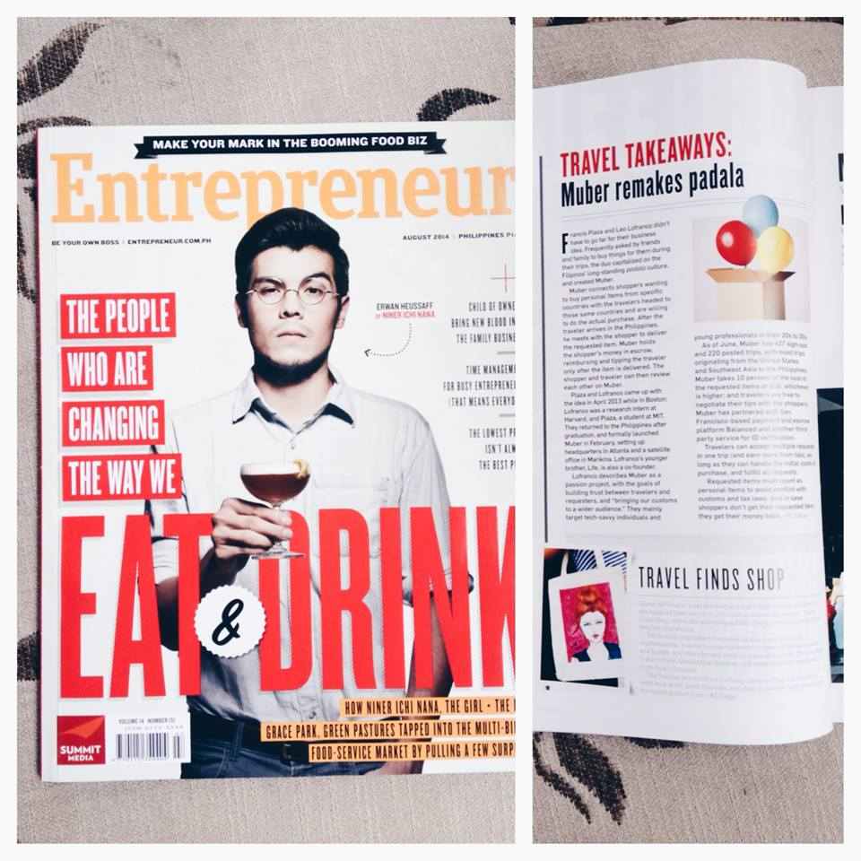 Entrepreneur Mag feature August 2014