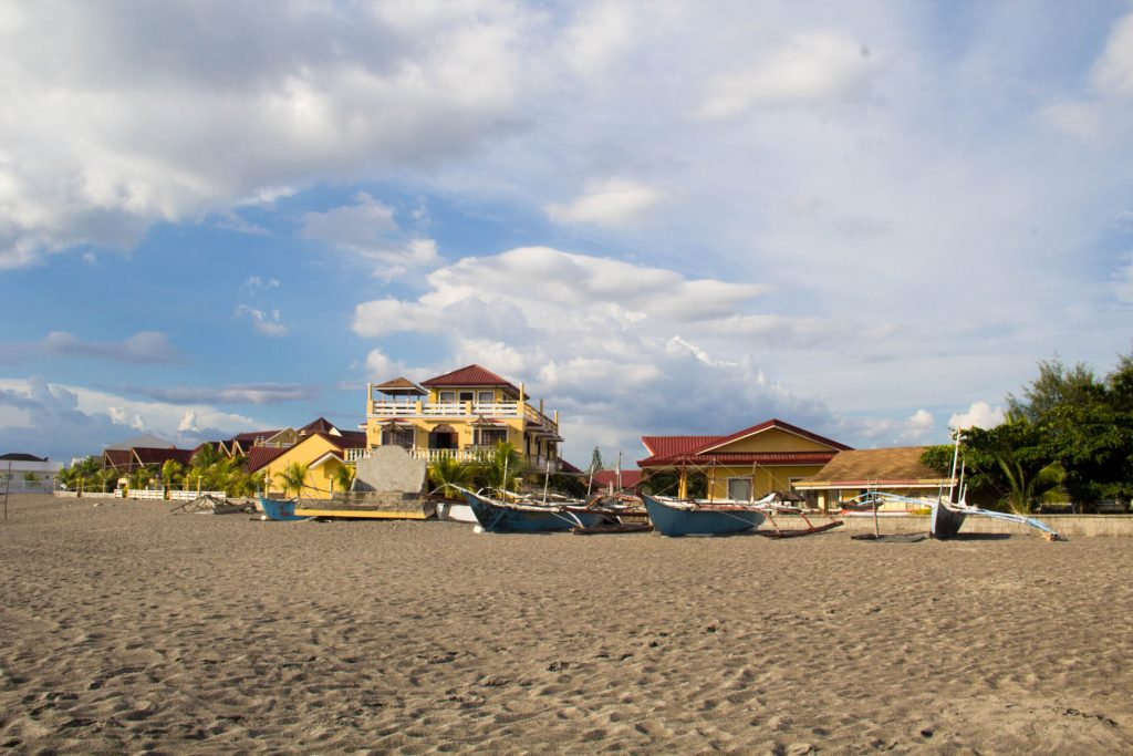 Beach-front cottages