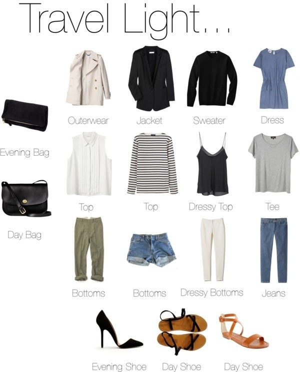 Packing Tip: bring multi-functional and mix-and-matchable pieces