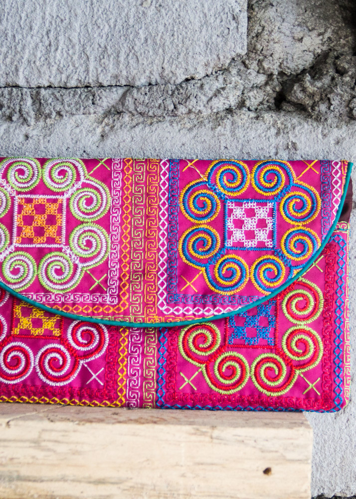 Vietnam travel find hmong embroidered purse finds