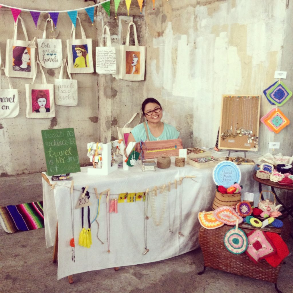 Travel Finds Shop and Handmade Home's booth set-up