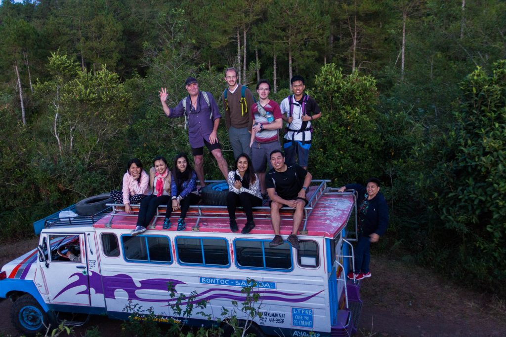 On top load with the new found troop in Sagada